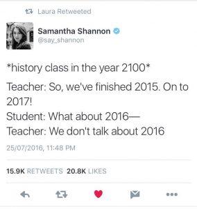 не говорим за 2016